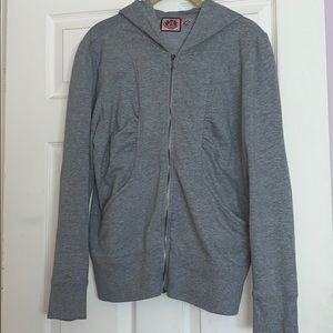 Juicy Couture grey zip up sweatshirt.